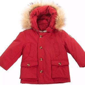 NWT Fred Mello Padded Parka Jacket with Fur Hood